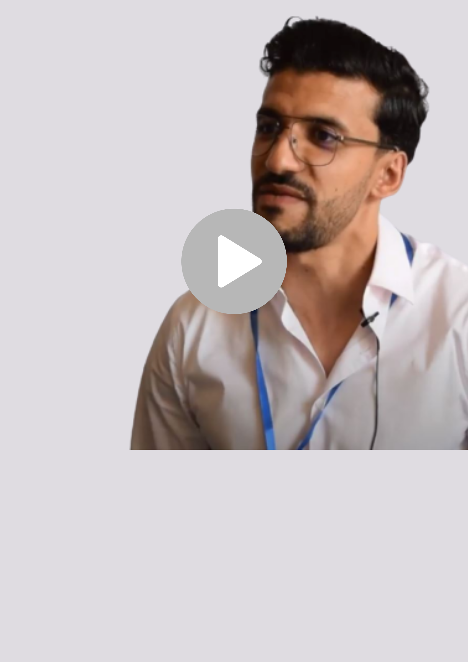 Junger Mann erzählt über die EMR Strategie